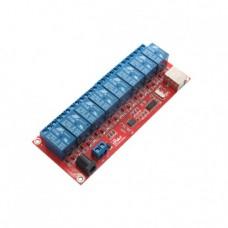 ماژول رله 5 ولت هشت کاناله دارای ارتباط USB