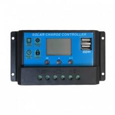 کنترلر شارژ پنل های خورشیدی 10A با صفحه نمایش و خروجی USB