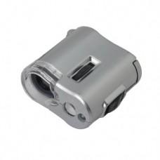میکروسکوپ جیبی 60X مجهز به چراغ قوه و نور UV